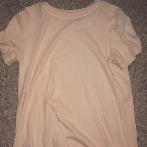 Peach colored T-shirt